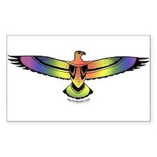 Eagle Rainbow Pride Sticker (Rect.)