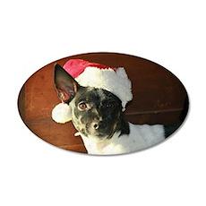 Dear Santa Rat Terrier Christmas Wishes Wall Decal