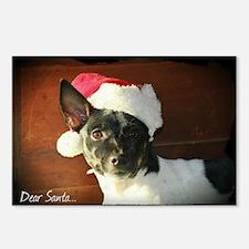 Dear Santa Rat Terrier Christmas Wishes Postcards