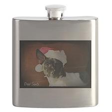 Dear Santa Rat Terrier Christmas Wishes Flask