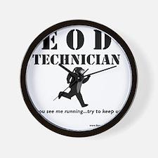 eod tech light Wall Clock