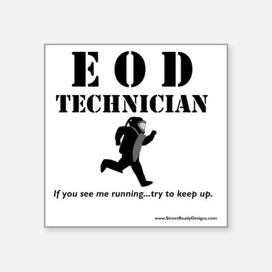 "eod tech light Square Sticker 3"" x 3"""