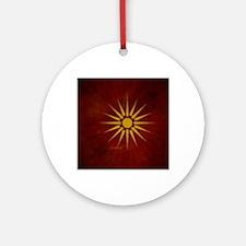 makedonsko_zname_by_dimovski Round Ornament