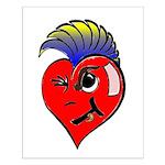 Punk Rock Heart Anti Valentine Small Poster
