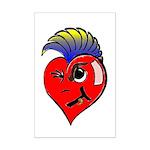 Punk Rock Heart Anti Valentine Mini Poster Print