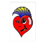 Punk Rock Heart Postcards (Package of 8)