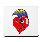 Punk Rock Heart Anti Valentine Mousepad