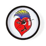 Punk Rock Heart Anti Valentine Wall Clock