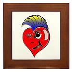 Punk Rock Heart Anti Valentine Framed Tile
