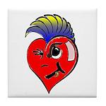 Punk Rock Heart Anti Valentine Tile Coaster