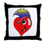 Punk Rock Heart Anti Valentine Throw Pillow