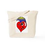 Punk Rock Heart Anti Valentine Tote Bag