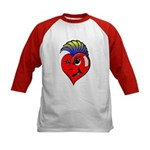 Punk Rock Heart Kids Baseball Jersey