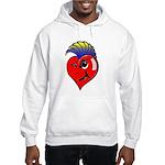 Punk Rock Heart Hooded Sweatshirt