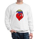 Punk Rock Heart Sweatshirt