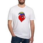 Punk Rock Heart Fitted T-Shirt