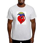 Punk Rock Heart Ash Grey T-Shirt