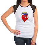 Punk Rock Heart Women's Cap Sleeve T-Shirt