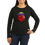 Punk Rock Heart Women's Long Sleeve Dark T-Shirt