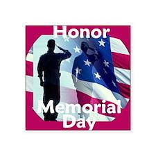 """2-MemorialHonor E Square Sticker 3"""" x 3"""""""