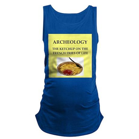 archaeology Maternity Tank Top