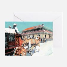 Stagecoach Cosomopolitan Hotel by RD Greeting Card