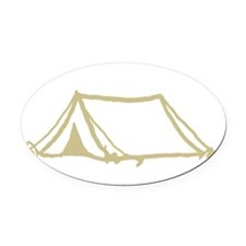 4-Moxi_Camping2 Oval Car Magnet