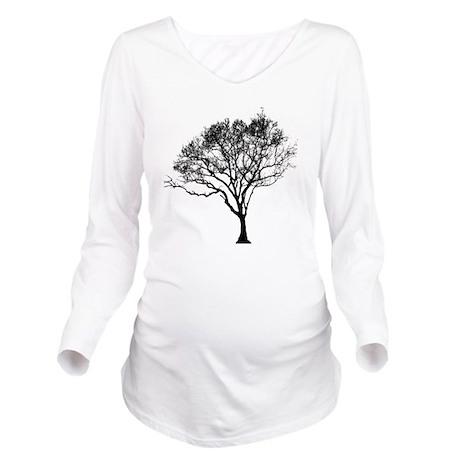 Black Tree Long Sleeve Maternity T-Shirt