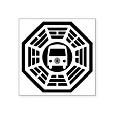 "Dharma Van Square Sticker 3"" x 3"""