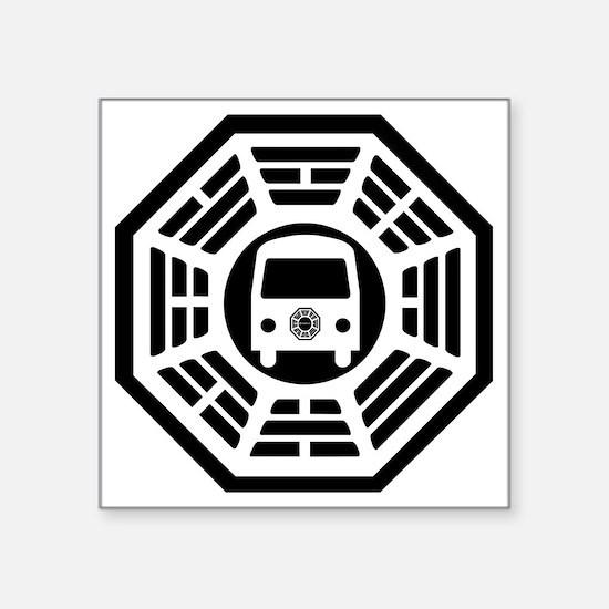 """Dharma Van Square Sticker 3"""" x 3"""""""