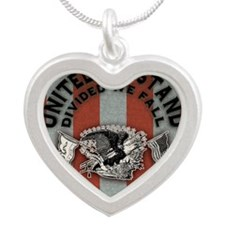 Am-eagle-BUT Silver Heart Necklace