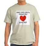 Does This Shirt Make My Heart Look Big Ash Grey T-