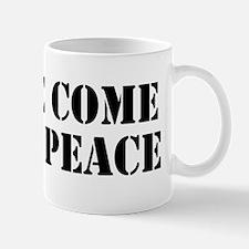 WeComeInPeace_LgBumper Mug