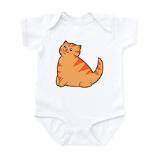 Happy Fat Orange Cat Infant Bodysuit