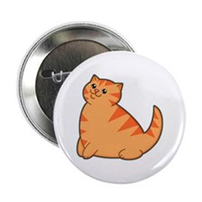 Happy Fat Orange Cat Button