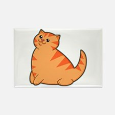 Happy Fat Orange Cat Rectangle Magnet