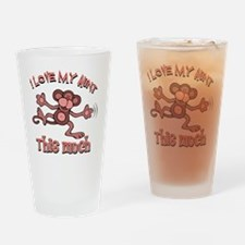 Love Aunt Drinking Glass