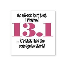 "run13 Square Sticker 3"" x 3"""