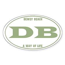DeweyEuroOvalGreen Decal