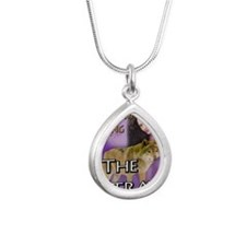 The Stray Greeting Card Silver Teardrop Necklace