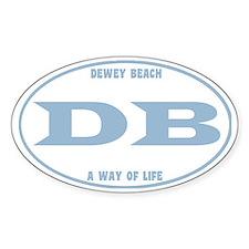 DeweyEuroOvalCupBlue Decal