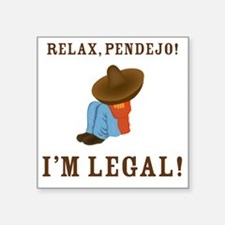 """relax2 Square Sticker 3"""" x 3"""""""