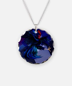 Black Fighting Rooster_mpad Necklace