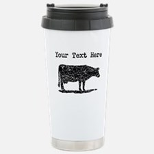 Distressed Cow Silhouette (Custom) Mugs