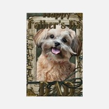 French_Quarters_ShihPoo_Dad Rectangle Magnet