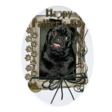 French_Quarters_Pug_Ruffy Oval Ornament