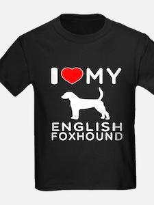 I Love My English Foxhound T