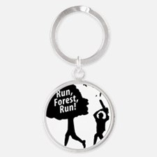 Run Forest Run Round Keychain