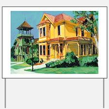 San Diego Victorian mansions by RD Ricco Yard Sign