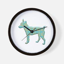 Paisley Terrier Wall Clock